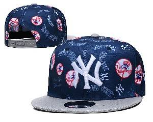 Mens Mlb New York Yankees Falt Snapback Adjustable Hats Blue