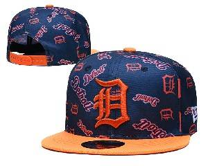 Mens Mlb Detroit Tigers Falt Snapback Adjustable Hats Blue