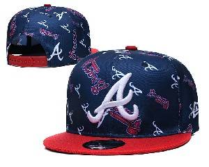 Mens Mlb Atlanta Braves Falt Snapback Adjustable Hats Blue