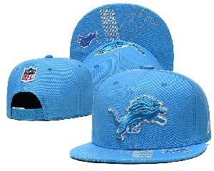 Mens Nfl Detroit Lions Falt Snapback Adjustable Hats Blue 9.3