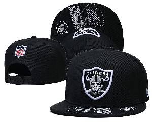 Mens Nfl Oakland Raiders Falt Snapback Adjustable Hats Black 9.3