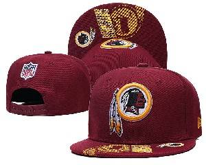 Mens Nfl Washington Redskins Falt Snapback Adjustable Hats Red 9.3