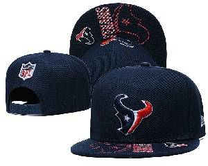 Mens Nfl Houston Texans Falt Snapback Adjustable Hats Blue 9.3