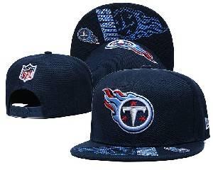 Mens Nfl Tennessee Titans Falt Snapback Adjustable Hats Blue 9.3