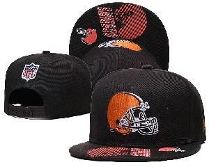 Mens Nfl Cleveland Browns Falt Snapback Adjustable Hats Brown 9.3