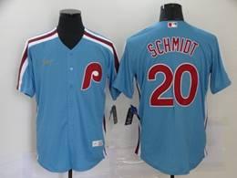 Mens Mlb Philadephia Phillies #20 Mike Schmidt Blue Throwbacks Cool Base Nike Jersey