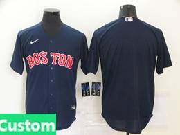 Mens Mlb Boston Red Sox Custom Made Blue Cool Base Nike Jersey