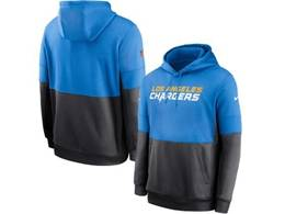 Mens Nfl San Diego Chargers Blue And Black Pocket Hoodie Nike Jersey