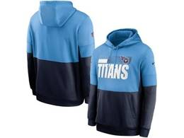 Mens Nfl Tennessee Titans Blue And Black Pocket Hoodie Nike Jersey