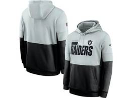 Mens Nfl Oakland Raiders Gray And Black Pocket Hoodie Nike Jersey