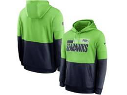 Mens Nfl Seattle Seahawks Green And Black Pocket Hoodie Nike Jersey