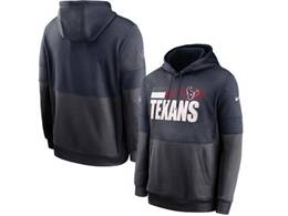 Mens Nfl Houston Texans Blue And Black Pocket Hoodie Nike Jersey