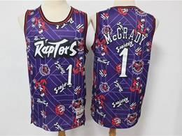 Mens Nba Toronto Raptors #1 Tracy Mcgrady Purple Hwc Printing Tear Up Pack Mitchell&ness Swingman Jersey