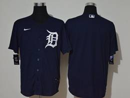 Mens Mlb Detroit Tigers Dark Blue Blank Cool Base Nike Jersey