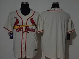 Mens Mlb St.louis Cardinals Cream Blank Cool Base Nike Jersey