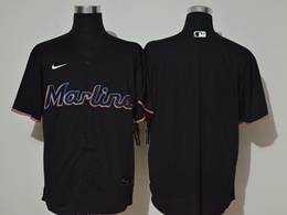 Mens Mlb Miami Marlins Blank Black Cool Base Nike Jersey