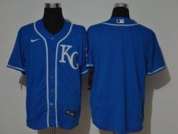 Mens Mlb Kansas City Royals Blank Blue Flex Base Nike Jersey