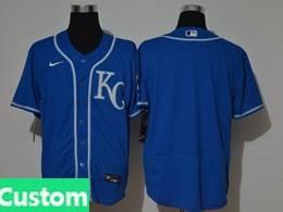 Mens Mlb Kansas City Royals Custom Made Blue Flex Base Nike Jersey