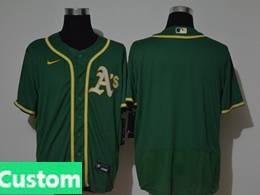 Mens Mlb Oakland Athletics Green Custom Made Flex Base Nike Jersey