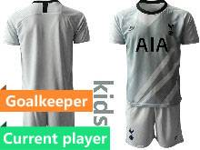 Baby 20-21 Soccer Tottenham Hotspur Club Current Player Gray Goalkeeper Short Sleeve Suit Jersey