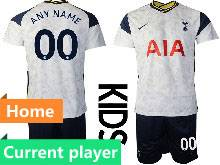 Baby 20-21 Soccer Tottenham Hotspur Club Current Player White Home Short Sleeve Suit Jersey