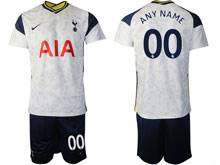 Mens 20-21 Soccer Tottenham Hotspur Club ( Custom Made ) White Home Short Sleeve Suit Jersey