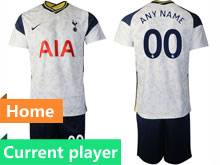 Mens 20-21 Soccer Tottenham Hotspur Club Current Player White Home Short Sleeve Suit Jersey