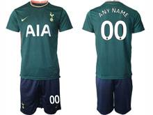 Mens 20-21 Soccer Tottenham Hotspur Club ( Custom Made ) Green Away Short Sleeve Suit Jersey