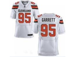 Mens Nfl Cleveland Browns #95 Myles Garrett White Elite Jersey