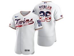 Mens Mlb Minnesota Twins #26 Max Kepler White Usa Flag Flex Base Nike Jersey