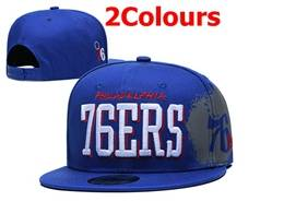 Mens Nba Philadelphia 76ers Snapback Adjustable Flat Hats 2 Colors