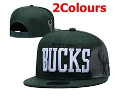 Mens Nba Milwaukee Bucks Snapback Adjustable Flat Hats 2 Colors