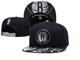 Mens Nba Brooklyn Nets New Black Snapback Adjustable Flat Hats