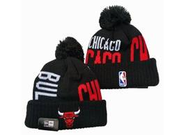 Mens Nba Chicago Bulls Black Sport Knit Hats
