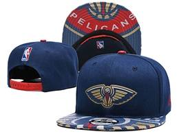 Mens Nba New Orleans Pelicans Blue Snapback Adjustable Flat Hats