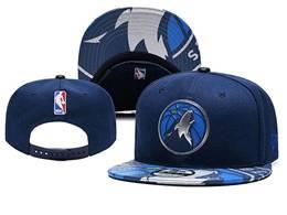 Mens Nba Minnesota Timberwolves Dark Blue Snapback Hats