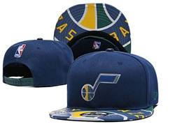 Mens Nba Utah Jazz Blue Snapback Adjustable Flat Hats