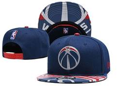 Mens Nba Washington Wizards Blue Snapback Adjustable Flat Hats