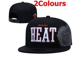 Mens Nba Miami Heat Snapback Adjustable Flat Hats 2 Colors