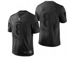 Mens Nfl Baltimore Ravens #8 Lamar Jackson Black Commemorative Vapor Untouchable Limited Jersey