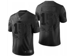 Mens Nfl Kansas City Chiefs #15 Patrick Mahomes Black Commemorative Vapor Untouchable Limited Jersey