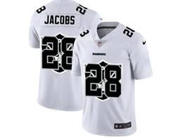 Mens Nfl Oakland Raiders #28 Josh Jacobs White Shadow Logo Vapor Untouchable Limited Jersey