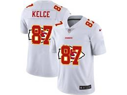 Mens Nfl Kansas City Chiefs #87 Travis Kelce White Shadow Logo Vapor Untouchable Limited Jersey