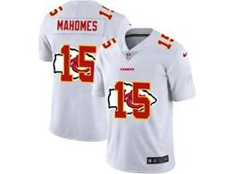 Mens Nfl Kansas City Chiefs #15 Patrick Mahomes White Shadow Logo Vapor Untouchable Limited Jersey