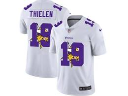 Mens Nfl Minnesota Vikings #19 Adam Thielen White Shadow Logo Vapor Untouchable Limited Jersey