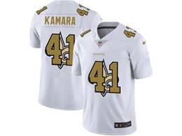 Mens Nfl New Orleans Saints #41 Alvin Kamara White Shadow Logo Vapor Untouchable Limited Jersey