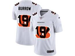 Mens Nfl Cincinnati Bengals #9 Joe Burrow White Shadow Logo Vapor Untouchable Limited Jersey