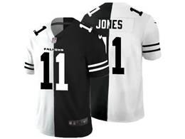 Mens Nfl Atlanta Falcons #11 Julio Jones Black&white Split Peaceful Vapor Untouchable Limited Jersey