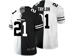 Mens Nfl Washington Redskins #21 Sean Taylor Black&white Split Peaceful Vapor Untouchable Limited Jersey