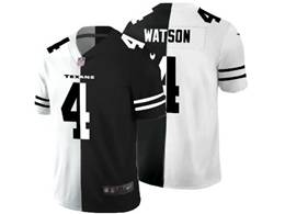 Mens Nfl Houston Texans #4 Deshaun Watson Black&white Split Peaceful Vapor Untouchable Limited Jersey